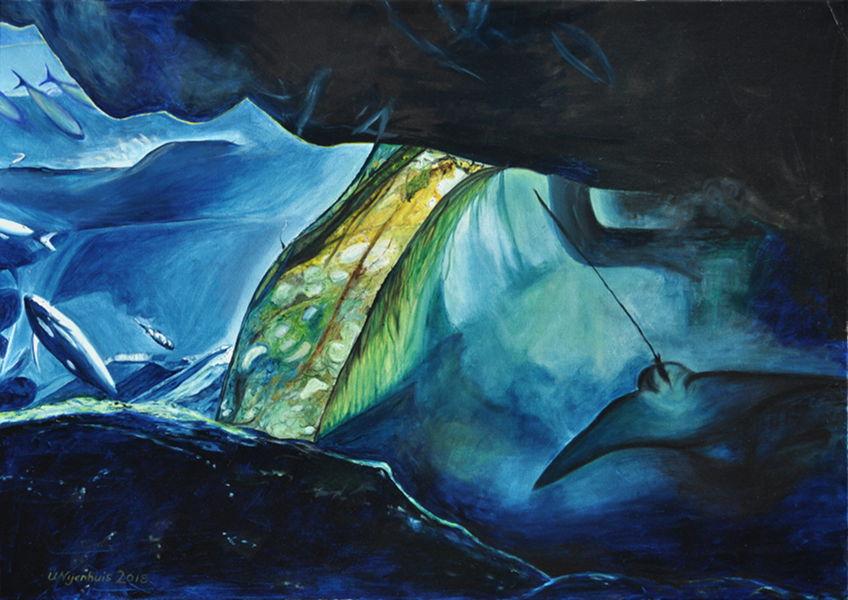 Das große Aquarium, Gemälde